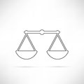 Simply Compare Icon Outline Royalty Free Stock Photo