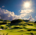 Simply golf image for adv or others purpose ues Royalty Free Stock Photo