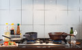 Simply kitchen in asian lifestyle Royalty Free Stock Photo