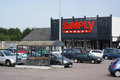 Simply market fleury sur orne france july affiliate of brand of supermarkets from the auchan group a french international retail Royalty Free Stock Photography