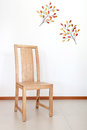 Simply wood chair home decor wood chair Royalty Free Stock Image