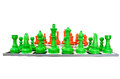 Simulation chess the and them size are very big Royalty Free Stock Image