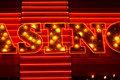 Sin Neon Sign Royalty Free Stock Photo