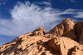 Sinai mountains egypt view of the Royalty Free Stock Image