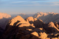 Sinai mountains egypt view from mount moses Royalty Free Stock Photo