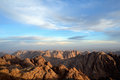 Sinai mountains egypt view from mount moses Royalty Free Stock Images