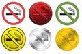 Sinais não fumadores Imagem de Stock Royalty Free