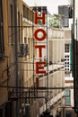 Sinal do hotel Foto de Stock Royalty Free