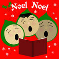 Sing noel Royalty Free Stock Image