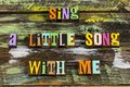 Sing song with me music enjoy singing life Royalty Free Stock Photo