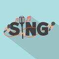 Sing Typography With Microphones Design