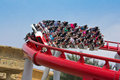 Singapore - 18 Sept 2011 Battlestar Galactica Roller Coaster at Royalty Free Stock Photos