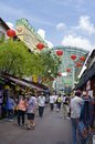 Singapore august singapore s chinatown august singapore chinatown ethnic neighbourhood featuring chinese cultural elements Stock Photos