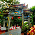 Singapore cable car haw par villa is a theme park located along pasir panjang road the park contains over statues and giant Royalty Free Stock Images