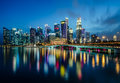 Singapore Central Business District Royalty Free Stock Photo