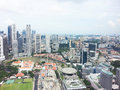 Singapore central business district skyline Royalty Free Stock Photo