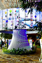 Singapore changi airport deco multimedia decoration Royalty Free Stock Photo