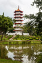 Singapore Chinese Gardens Pagoda Royalty Free Stock Photo