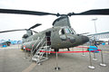 Singapore Chinook helicopter at the Singapore Airshow 2014 Royalty Free Stock Photography