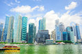 Singapore city center panoramic view on and a bay Royalty Free Stock Image