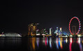 Singapore city skyline at night Stock Photography