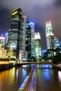 Singapore city skyline at night Stock Images