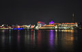 Singapore city skyline at night Royalty Free Stock Photos