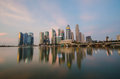Singapore city skyline view of business district with beautiful sunrise sky background Stock Image