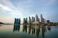 Singapore city skyline view of business district with beautiful sunrise sky background Stock Photography