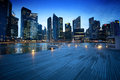Singapore city in sunset time Royalty Free Stock Photography