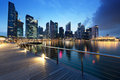 Singapore city in sunset time Stock Image