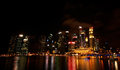 Singapore cityscape night Royalty Free Stock Photos