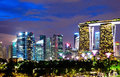 Singapore cityscape at night skyline Royalty Free Stock Images