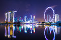 Singapore cityscape skyline at night Royalty Free Stock Photo