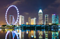 Singapore cityscape skyline at night Stock Photo