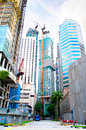 Singapore construction site of a modern buildings in Royalty Free Stock Photo