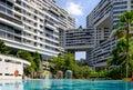 Singapore-DEC 28 2018: The Interlace Condominium building facade view in Singapore