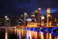 Singapore december marina bay december singapore marina bay thriving energetic place where people live work play Royalty Free Stock Photo