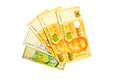Singapore dollars on white background Royalty Free Stock Image