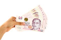 Singapore Dollars. Royalty Free Stock Photo