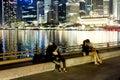 Singapore embankment Royalty Free Stock Images