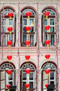 SINGAPORE - FEBRUARY 3 - Chinese lanterns outside a building in
