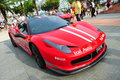 Singapore ferrari club owners showcasing their ferrari cars during singapore yacht show at one degree marina club sentosa cove Royalty Free Stock Photography