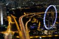 Singapore flyer aerial view of with Royalty Free Stock Photo