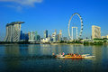 The Singapore Flyer and Cityscape Royalty Free Stock Photography