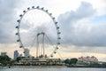 Singapore Flyer, the giant ferris wheel, Singapore Royalty Free Stock Photo