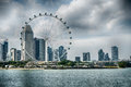 Singapore Flyer the giant ferris wheel in Singapore Royalty Free Stock Photo