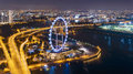 Singapore flyer jun aerial view of at marina bay district in on june marina bay is one of best sightseeing Royalty Free Stock Photography