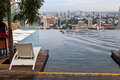 Singapore january infinity swimming pool of the marina bay sands on january in singapore it is m long and set on world s largest Royalty Free Stock Images