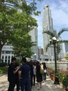 Singapore mar long queue of visitors paying last respect to ex prime minister lee kuan yew who died of ill health people tribute Royalty Free Stock Photo